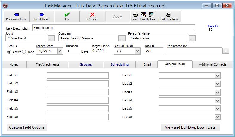 VirtualBoss Program Screen Shots